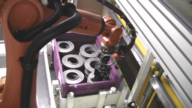 Component-friendly brake disc removal with stationary mounted 3D sensor system SKG500